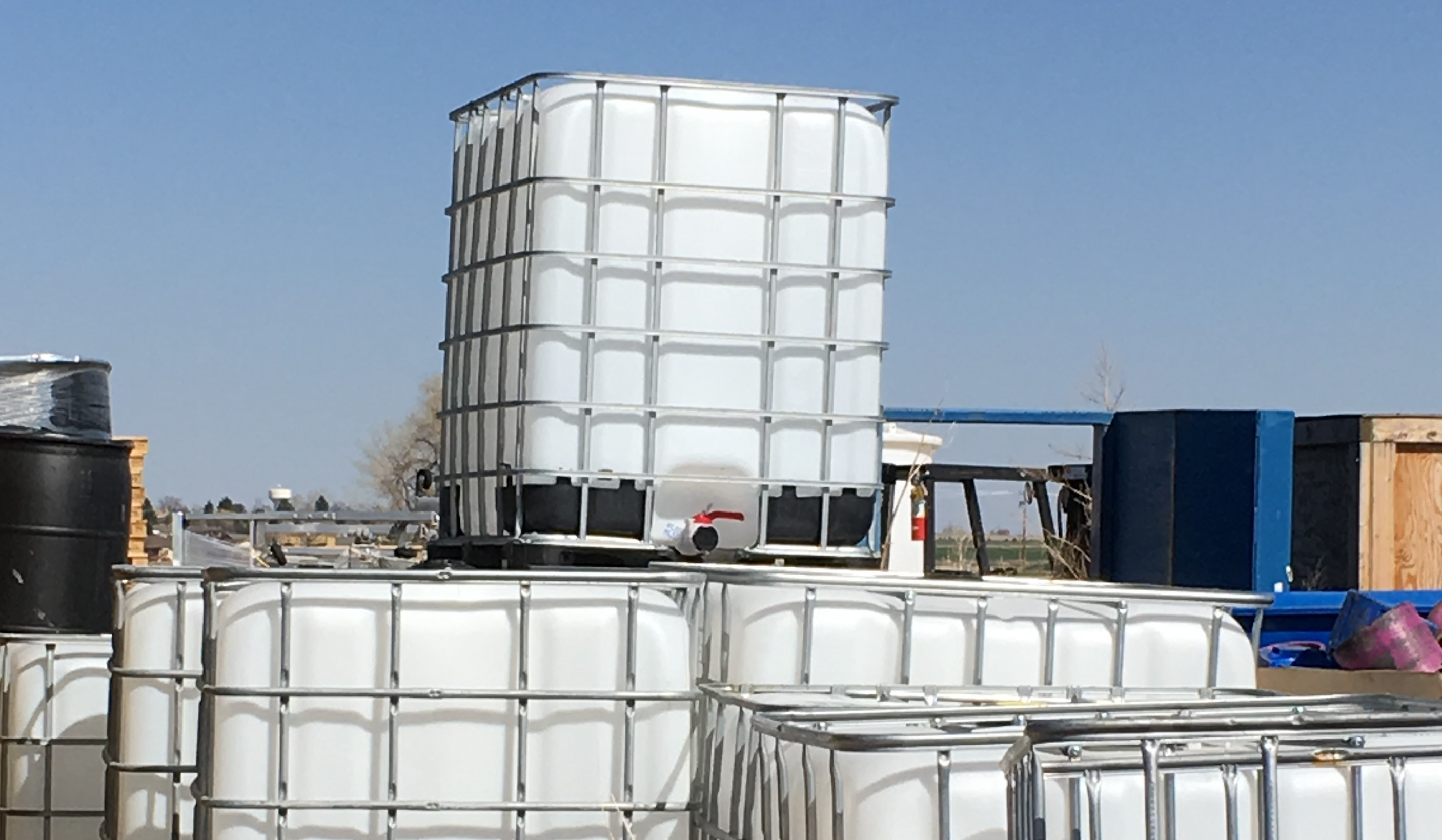 IBC Totes, 275 gallon with cage, Triple rinsed | Waste-Not