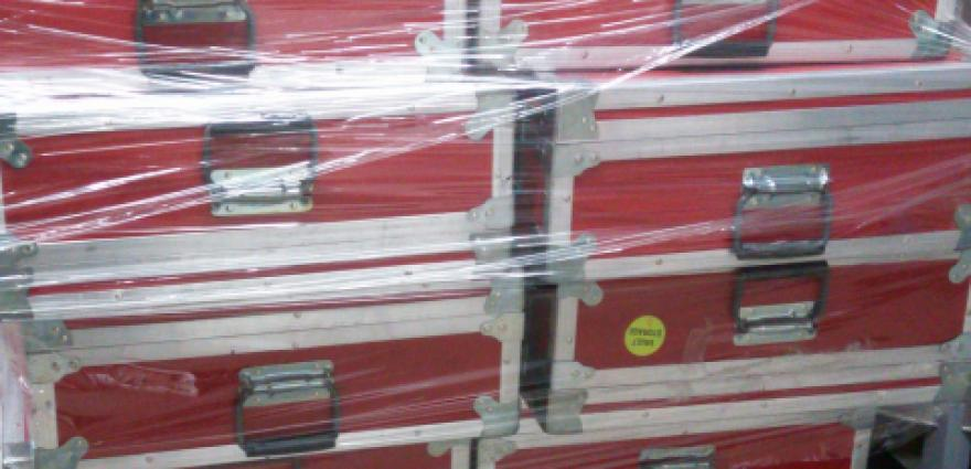 Large Red Shipping Cases