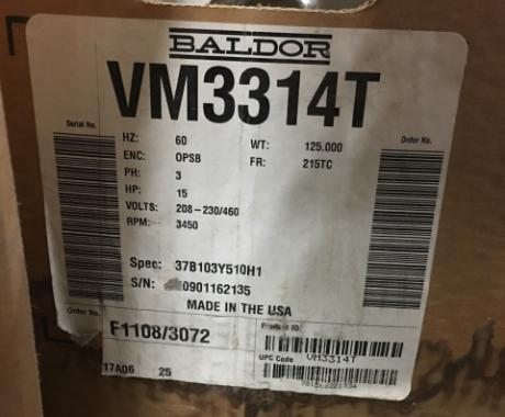 Baldor VM3314T General Purpose Industrial Motor