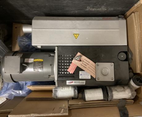 Elmo Rietschle oil-lubricated rotary vane vacuum pump, VC202, Baldor Motor