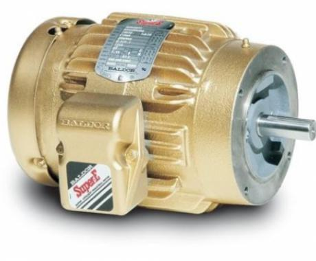 New VEM3584T-5 Baldor Super E, 3 Phase, Totally Enclosed, Footless 1.5HP, 1765RPM