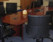 12 Foot Boat Shaped Conference Table