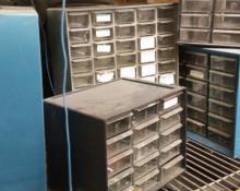 Small plastic organizing bins