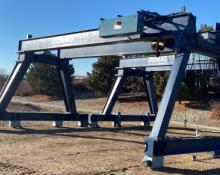 demag overhead crane, hoist trolley, double girder bridge crane