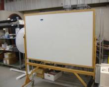 Ghent  4'x6' reversible board, white board, cork board