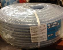 """Refittex Cristallo 6x12mm x 100m (.25"""" x .47"""") Vacuum Hose rolls"""