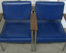 Two Navy Blue Harter Scope-H Mid-Century Chairs