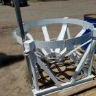 Tank Cradle for cone bottomed tank, material handling